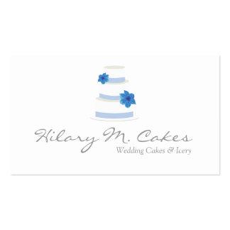 Elegante Hochzeitstorte-Designer-Visitenkarte Visitenkarten