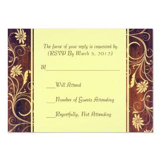 Elegante hölzerne Blumen-UAWG-Luxuskarte Personalisierte Ankündigungskarten