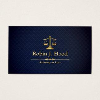 Elegante Imitat-Goldwaage-dunkelblauer Visitenkarten