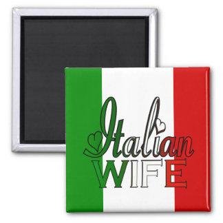 Elegante italienische Ehefrau Quadratischer Magnet