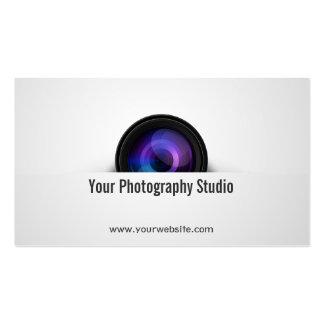 Elegante Kameraobjektiv-Fotograf-Visitenkarte