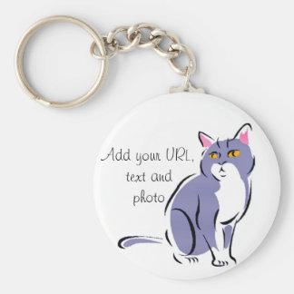 Elegante Katze Schlüsselanhänger