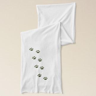 elegante Katzentatzendrucke Schal