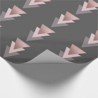 elegante klare geometrische Dreiecke der Geschenkpapier