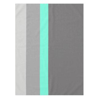 elegante klare tadellose graue Streifen Tischdecke