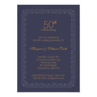 Elegante klassische Hochzeitstag Einladung