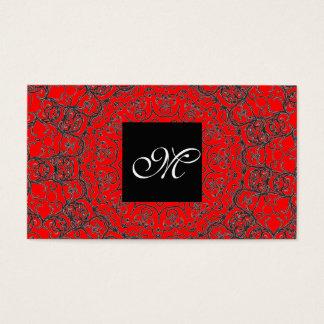 Elegante klassische rote moderne visitenkarte