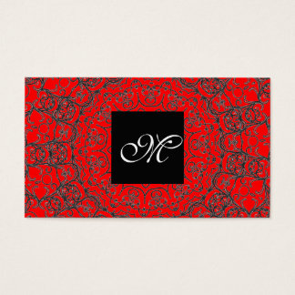 Elegante klassische rote moderne visitenkarten