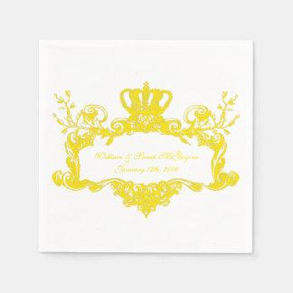 Elegante königliche Hochzeits-gelber Serviette