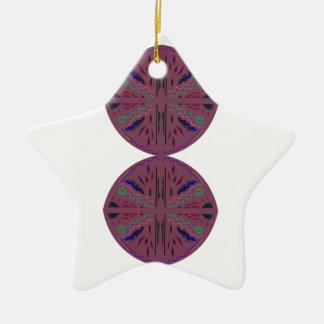 Elegante Kreise/Mandalas Browns Keramik Ornament