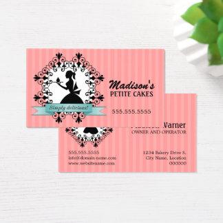 Elegante Kuchen-Visitenkarten Visitenkarte