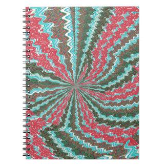 Elegante künstlerische spiral notizblock