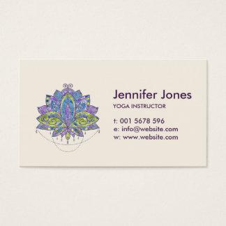 Elegante leichte Watercolor-Lotos-/Lilien-Blume Visitenkarte