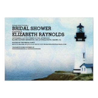 Elegante Leuchtturm-Brautparty-Einladungen 12,7 X 17,8 Cm Einladungskarte