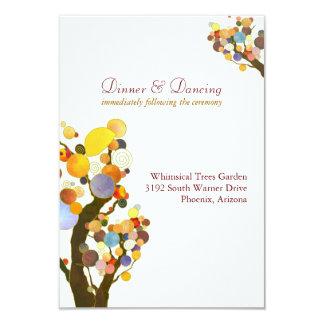 Elegante Liebe-Baum-weißer Hochzeits-Empfang 8,9 X 12,7 Cm Einladungskarte