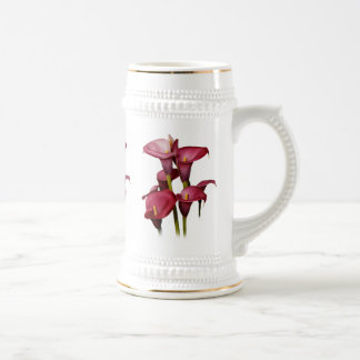 Elegante lila Calla-Lilien Bierglas