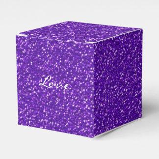 Elegante lila Glitter-Blick-Beschaffenheit Geschenkschachtel