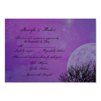Elegante lila gotische Posh Hochzeits-Wartekarte Karte