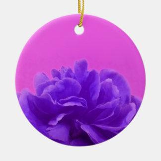Elegante lila Himbeere mit Blumen Keramik Ornament