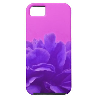 Elegante lila Himbeere mit Blumen Tough iPhone 5 Hülle