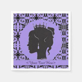 Elegante lila personalisierte Prinzessin Napkins Serviette