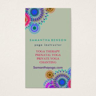 Elegante Logo-Yoga-Meditation Visitenkarten