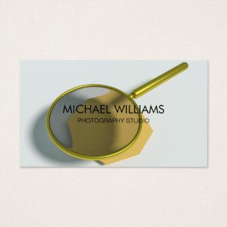 Elegante Lupe Forschender Detektiv Lupe Zunahme Visitenkarte