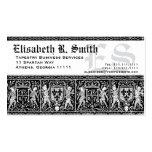 Elegante mittelalterliche Stickerei-romantisches Visitenkarte