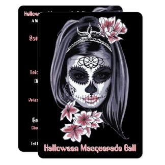 elegante moderne Einladung Halloween cinco Des