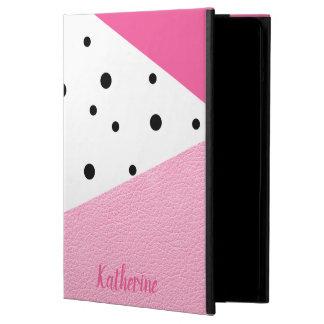 Elegante moderne geometrische rosa lederne