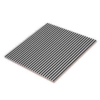 Elegante moderne Schwarzweiss-Streifen Keramikfliese