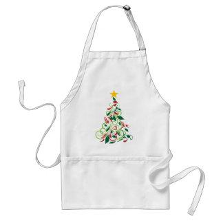 Elegante moderne Weihnachtsbaum Illustration Schürze