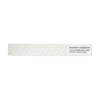 Elegante moderne Weißund Goldconfetti-Punkte