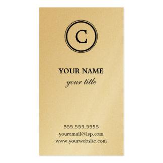 Elegante Monogramm-GoldVisitenkarten
