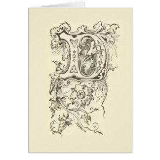 Elegante Monogramm-Initiale extravagant Karte