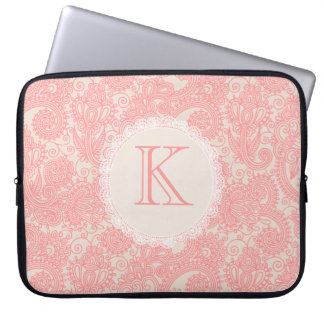 Elegante Monogramm-Paisley-Designer-Laptop-Tasche Computer Schutzhüllen