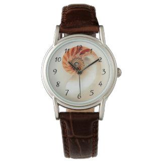 Elegante Muschel-Zahlen Uhr