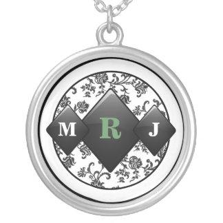 Elegante Onyx-Hochzeits-Halskette Halskette Mit Rundem Anhänger