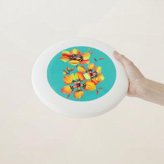 Elegante orange Blumen - Aqua Wham-O Frisbee