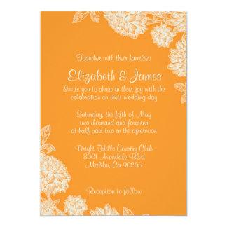 Elegante orange Hochzeits-Einladungen 12,7 X 17,8 Cm Einladungskarte