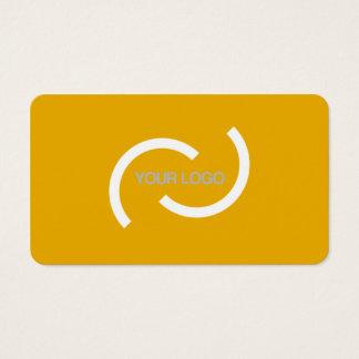 Elegante orange Karte. Fertigen Sie mit Ihrem Visitenkarte