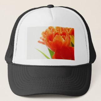 Elegante orange Tulpen Truckerkappe
