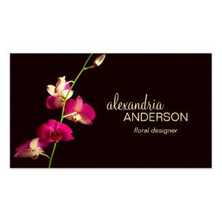 Elegante Orchideen-Designer-Visitenkarte
