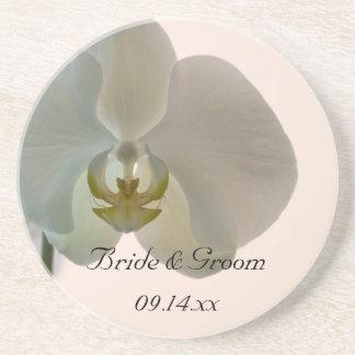Elegante Orchideen-Hochzeit Getränkeuntersetzer