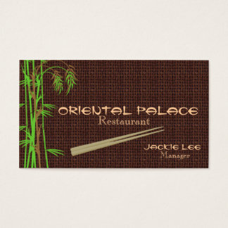 Elegante orientalische Restaurant-Karte TBA Visitenkarte