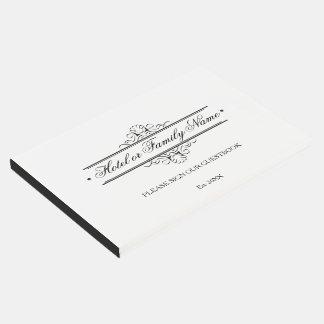 Elegante personalisierte gästebuch