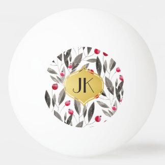 Elegante Pfingstrosen mit Blumen Ping-Pong Ball