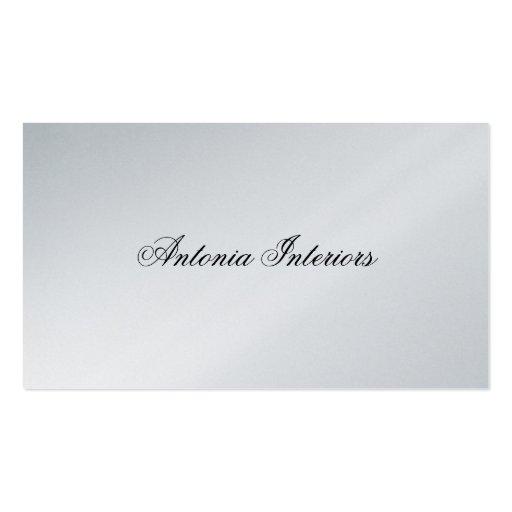 Elegante Platin-Visitenkarte