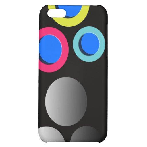 Elegante Polkapunkte zacken blauen gelben dotty co Hüllen Für iPhone 5C