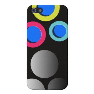 Elegante Polkapunkte zacken blauen gelben dotty co iPhone 5 Schutzhülle